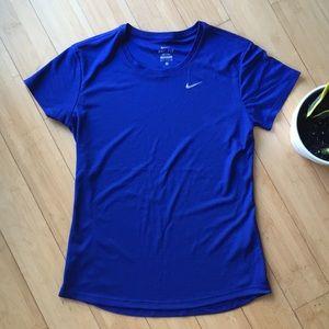 Nike blue dri-fit running athletic shirt